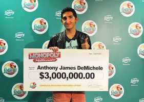 Anthony James DeMichele, of Port Charlotte, won $3 million from a scratch-off.