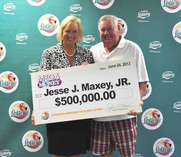 Jesse J. Maxey Jr. won $500,000 in the Mega Money jackpot.