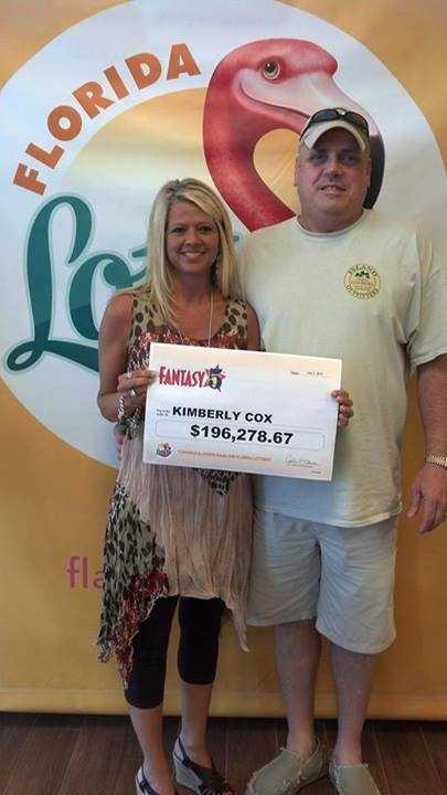 Kimberly Cox, of Pensacola, won $196,278.67 playing Fantasy 5.