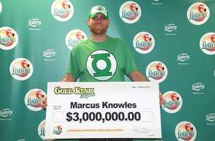 Marcus Knowles, of Atmore, Alabama, won $3 million from a scratch-off.