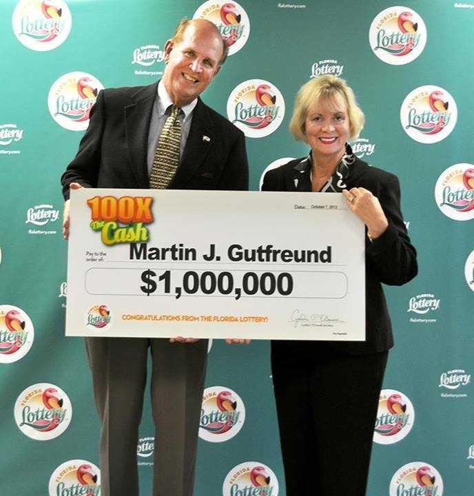 Martin Gutfreund, of Bradenton, won $1 million on a scratch-off.