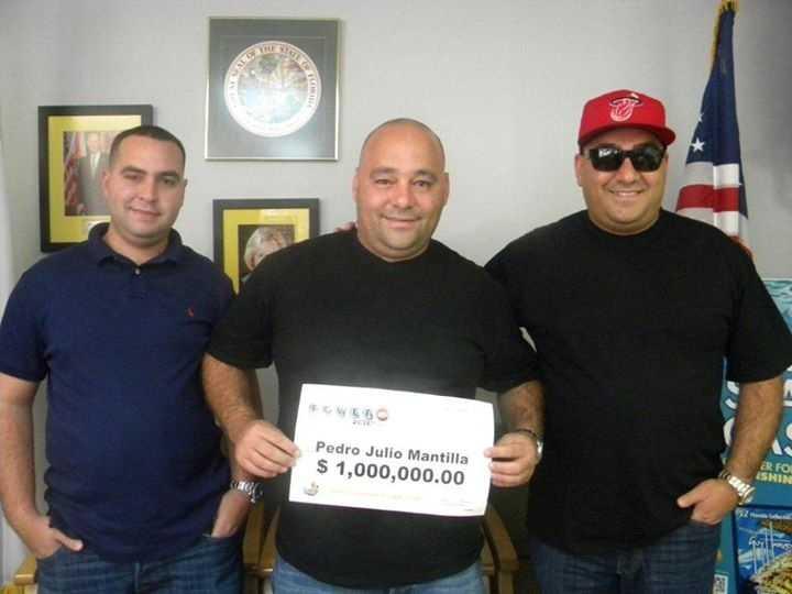 Pedro Mantilla won $1 million playing Powerball.