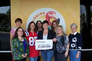 The Lucky Ladies, of Sanford, won $1 million from Powerball. The group is made up of teachers in Seminole County that have been buying Quick Pick Powerball tickets every Wednesday and Saturday for five years.