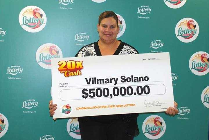 Vilmary Solano, of Tampa, won $500,000 from a scratch-off.