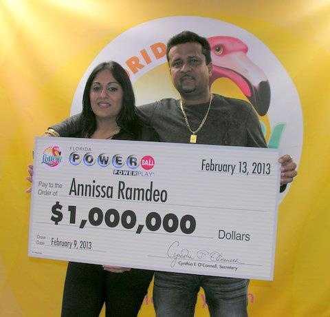 Annissa Ramdeo, of West Park, won $1 million playing Powerball.