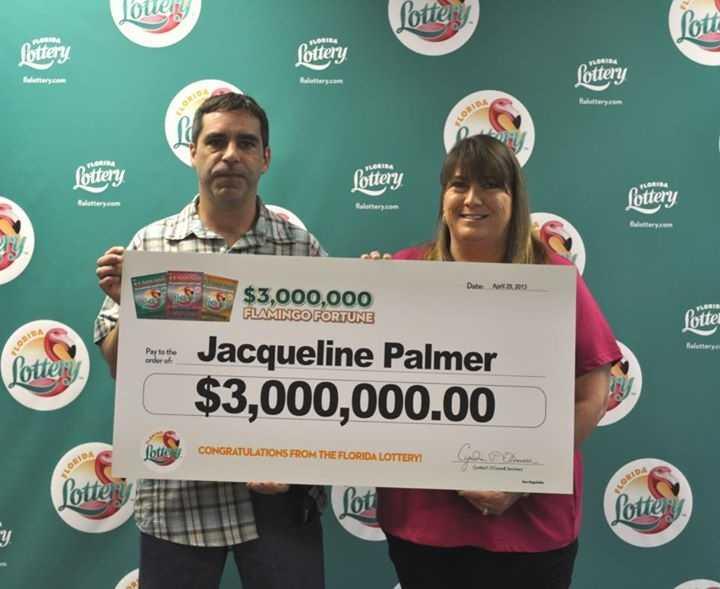 Jacqueline Palmer, of Okeechobee, won $3 million from a scratch-off.