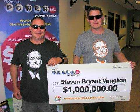 Steven Vaughan won $1 million playing Powerball.