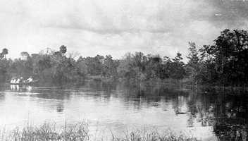 Since 1947, mermaids have entertained visitors to Weeki Wachee Springs in Spring Hill. This image is of Weeki Wachee in 1924, before mermaids moved in.