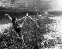 Underwater ballet in 1951.