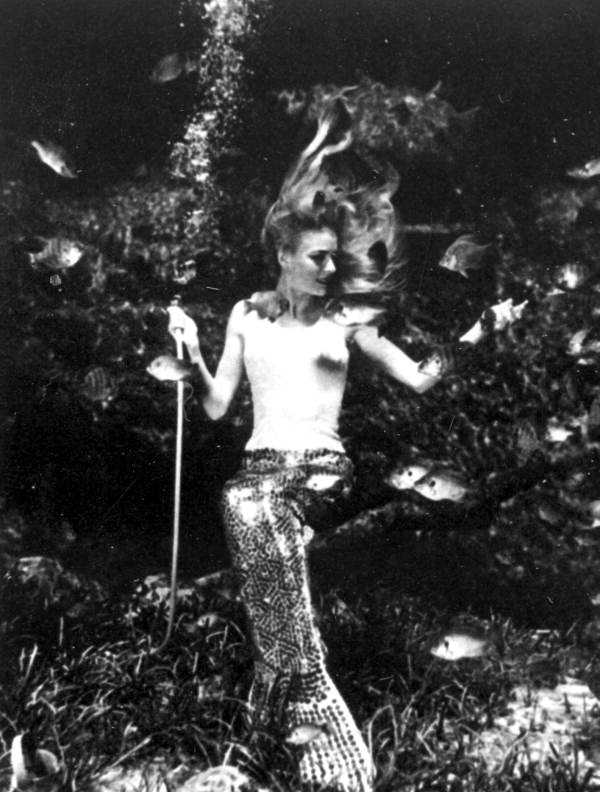 In its heyday, mermaids performed eight sold-out shows a day, according to Florida State Parks. This picture was taken in 1969.