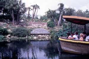 Guests observe the pelican orphanage at the park in 1983.