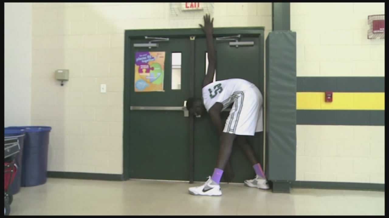 Elhadji Tacko Fall, from Senegal, stands at 7 feet 5 inches and is the tallest high school player in the nation. Fall plays at Liberty Christian Preparatory in Tavares. Perhaps more impressive than his height is his GPA: 4.0