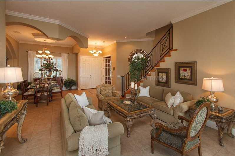 The home has an open floor plan.