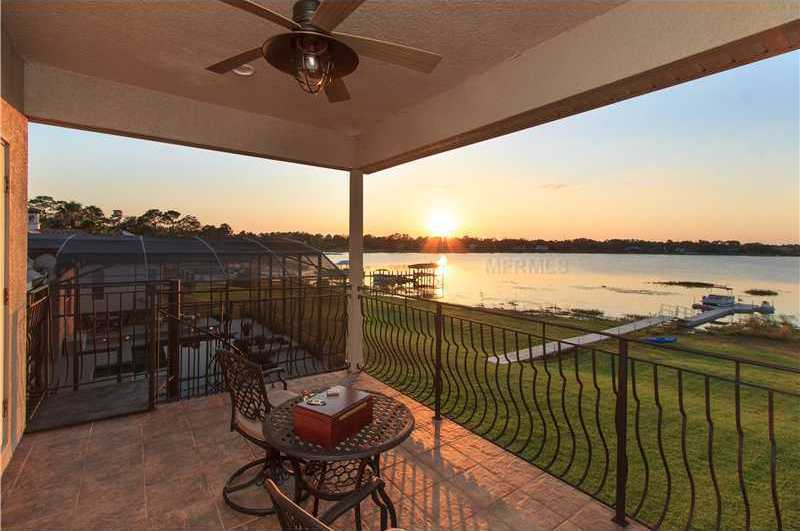 Enjoy amazing sunsets and nightly fireworks from the second floor private balcony.