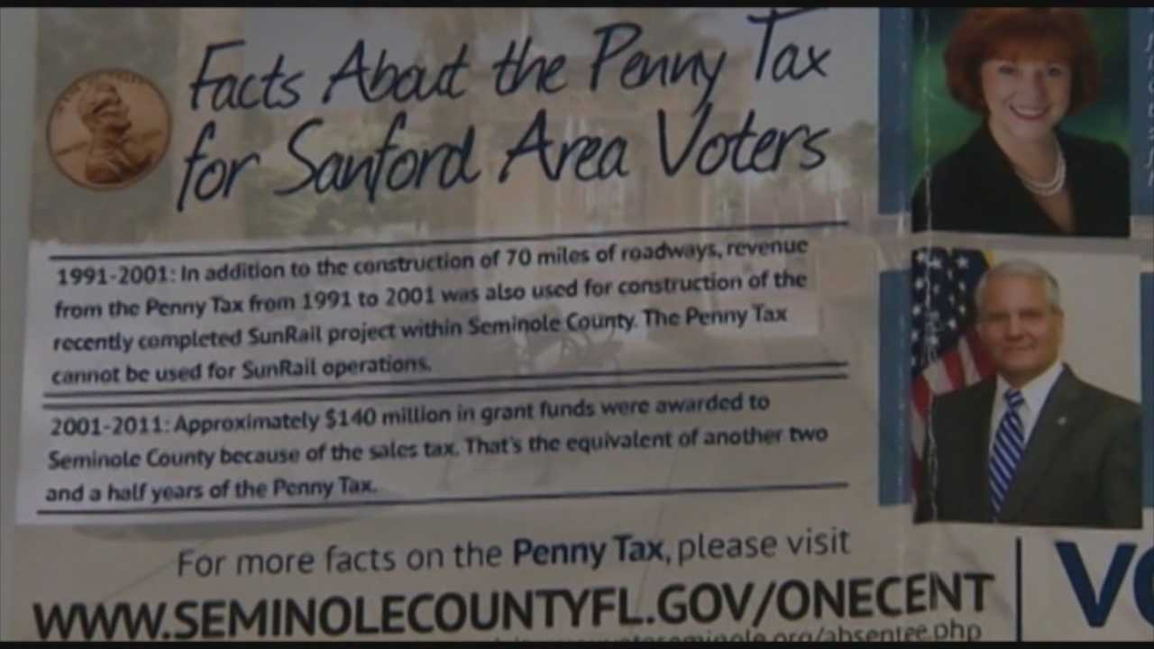 A week from today Seminole County voters will decide whether or not to increase the sales tax, but some are taking issue with the way the county is encouraging residents to get out and vote.
