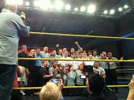 WWE Superstar Xavier Woods, WWE Diva Eva Marie and NXT Superstars trained alongside Special Olympics athletes from Team Florida at the WWE Performance Center in Orlando on Thursday.