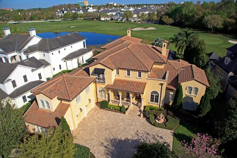 The 8,107 sq. ft. home resides in a city that was built to evoke simpler times and match it with incomparable elegance.