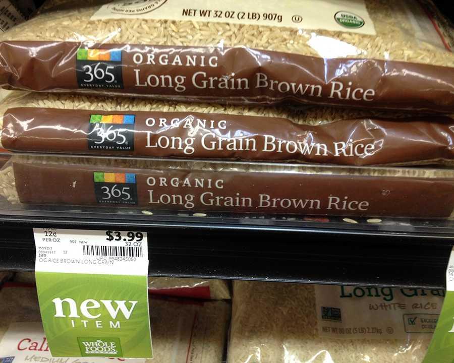Organic Long Grain Brown Rice at Whole Foods: $3.99