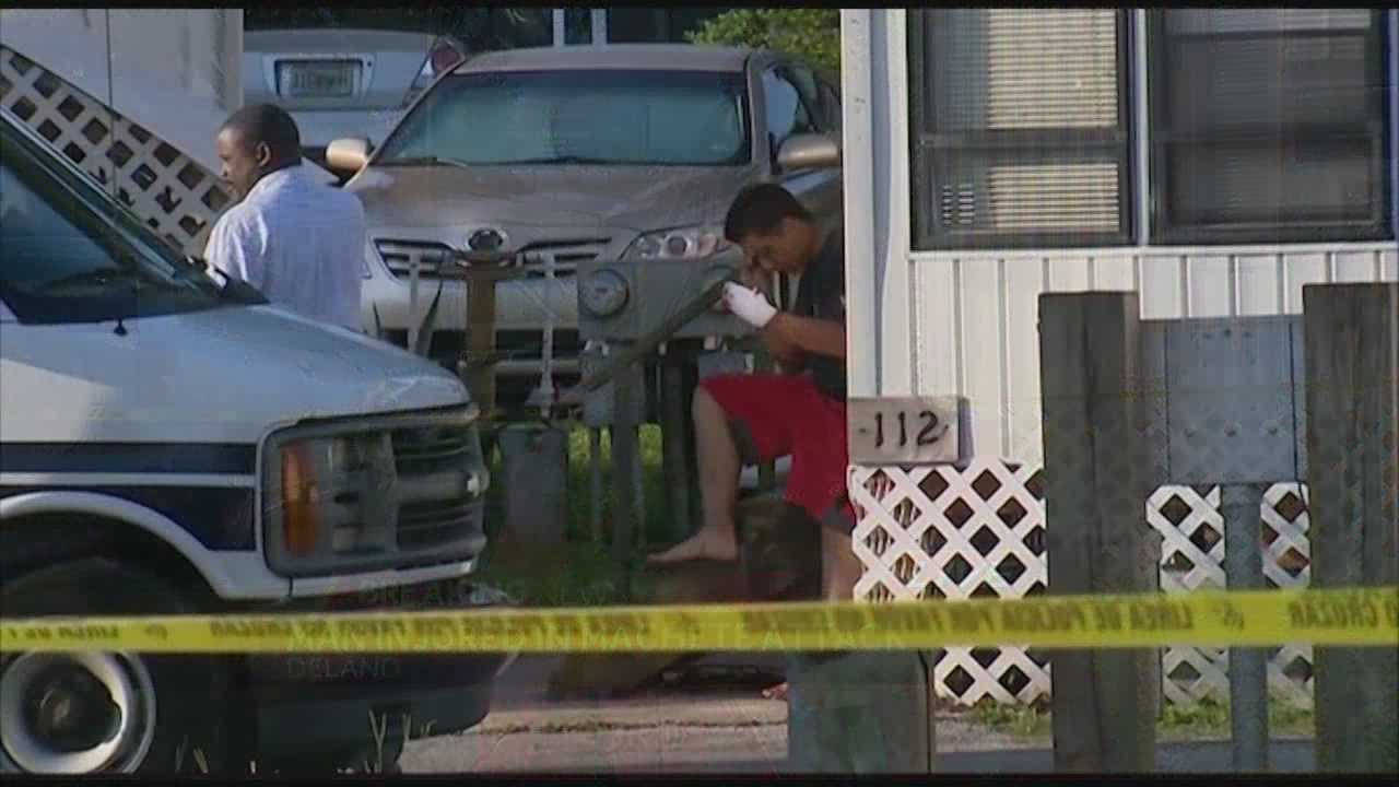 A man was injured early Thursday morning in a machete attack in DeLand.