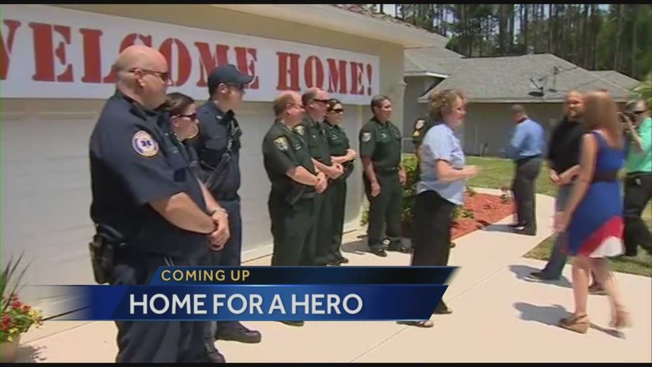 Wounded war hero receives free home for family