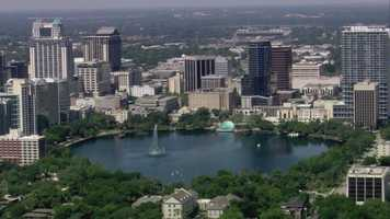 Lake Eola in downtown Orlando