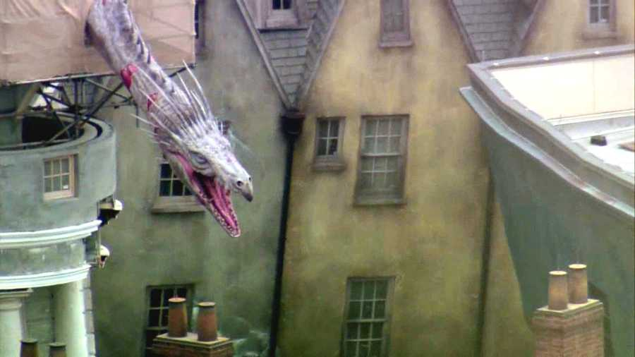 See aerial view of all of Diagon Alley