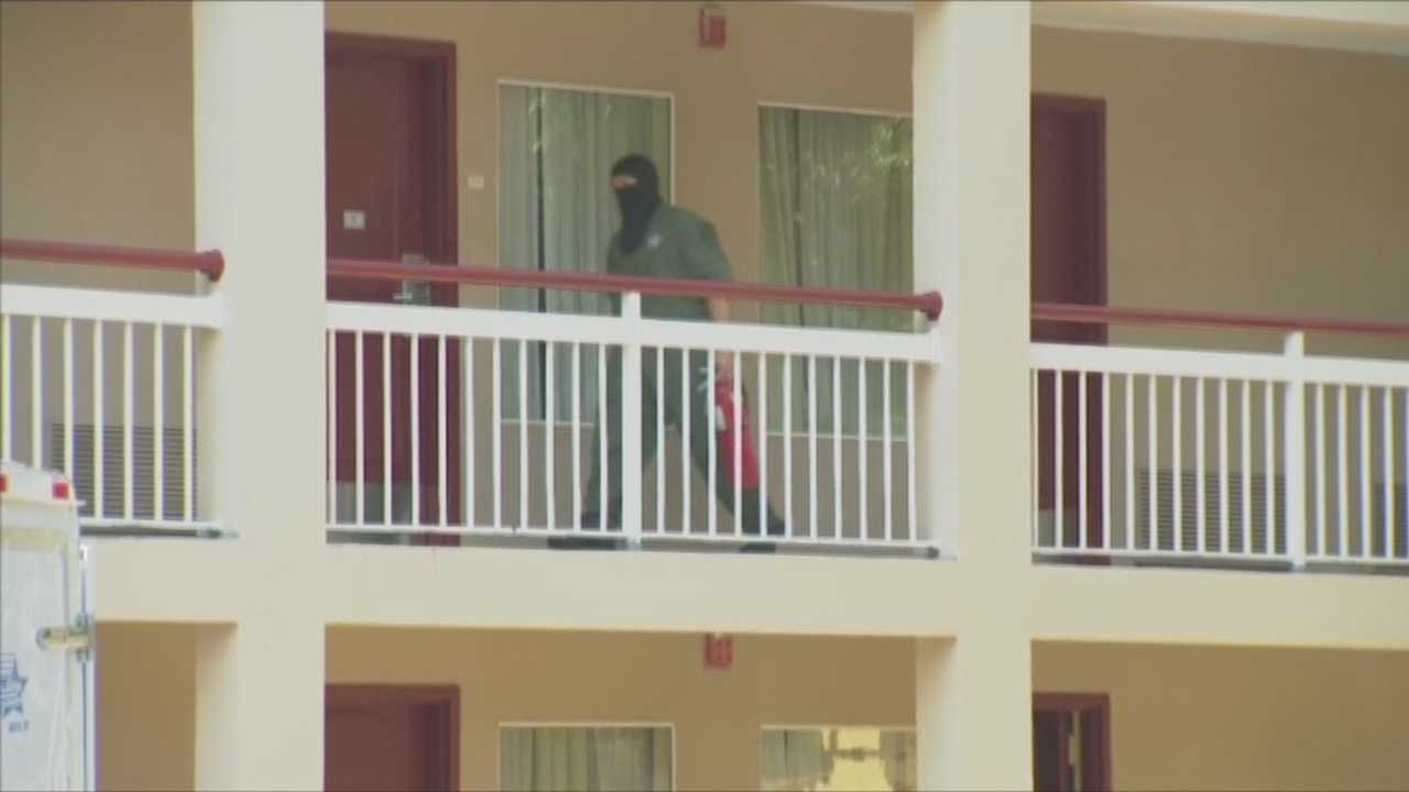 Orange County Sheriff's deputies said only one of the three women people found inside an Orange County hotel room with a portable methamphetamine lab are facing charges.