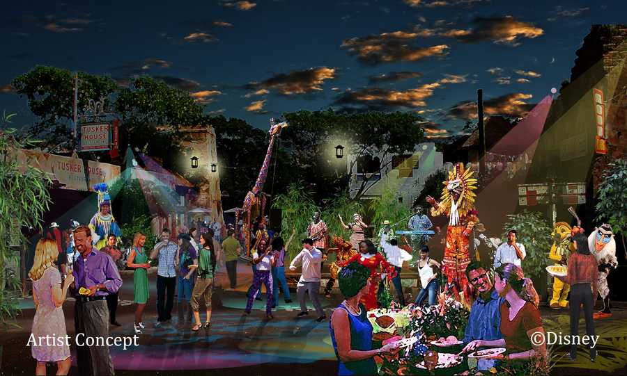 """Harambe Nights kicks off at Animal Kingdom beginning on June 7. Guests can enjoy African-inspired cuisine, music and dancing. For the first time ever the park will be putting on a production called, """"The Lion King Concert in the Wild,"""" which tells the story of the life of Simba."""