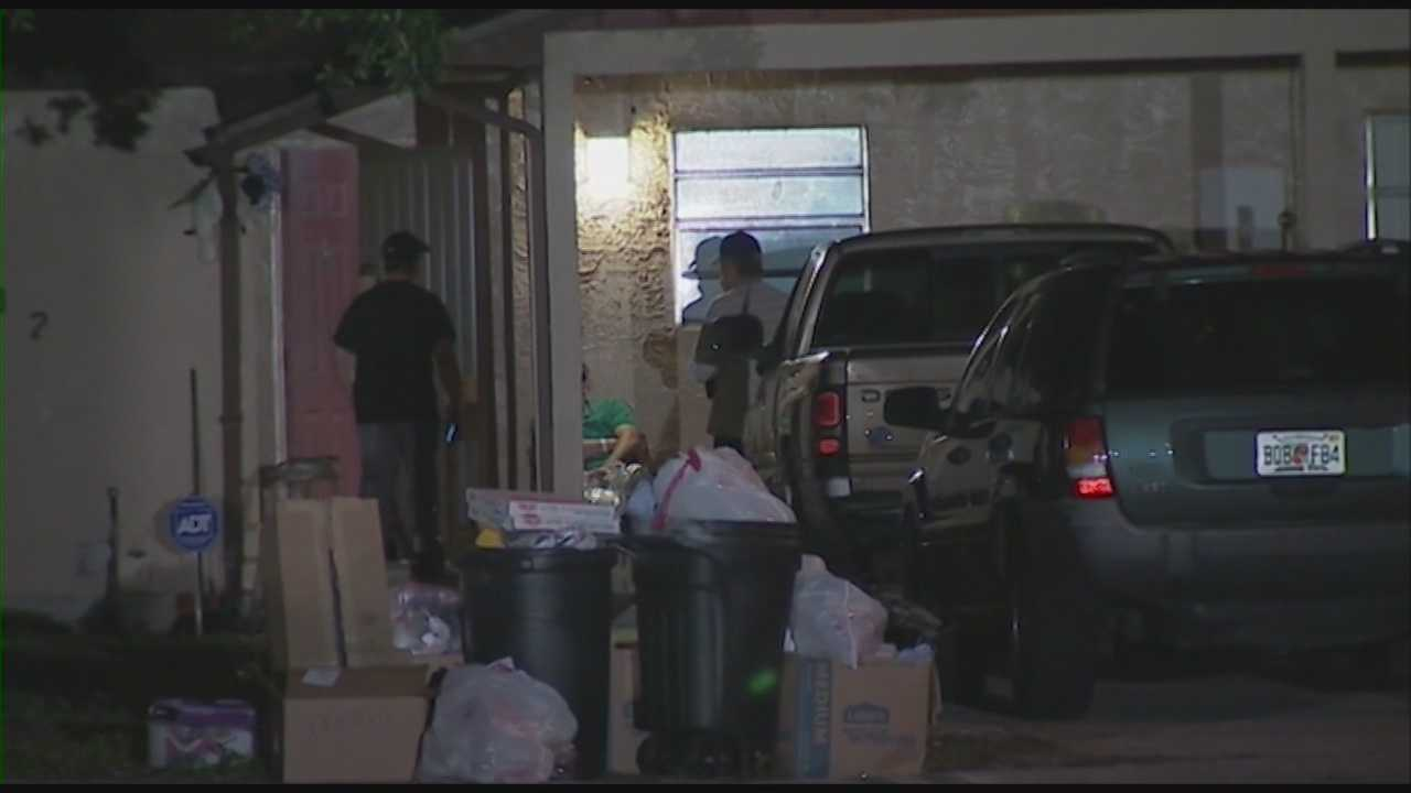 A teenager and a woman were shot early Thursday morning during a home invasion in Orange County, and the gunman is still on the run.