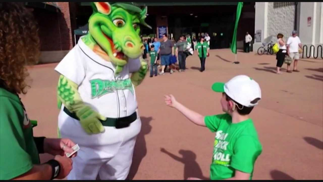 A 7-year-old hearing-impaired baseball fan made a unique connection with the Daytona Dragons' mascot Heater, and the meeting, which was coincidence, was all caught on camera.