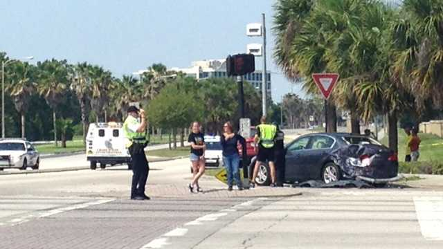 A sand truck collided with several other vehicles in Orlando, injuring seven people, police said.