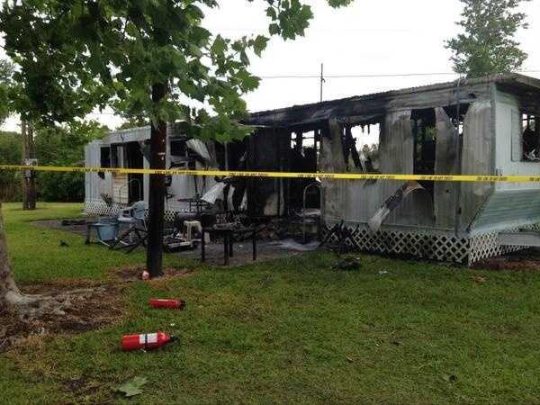 Investigators are looking into what caused a deadly fire in an Orange County mobile home park.