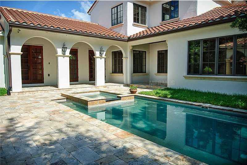 Classic pool and spa.