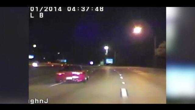 A street race on Interstate 4 was caught on dash camera and now one of the suspects is facing charges.