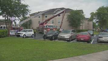 A lightning strike caused an apartment fire in Orange County Tuesday afternoon, officials said.