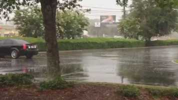 Storms traveled through East Orange County on Wednesday.