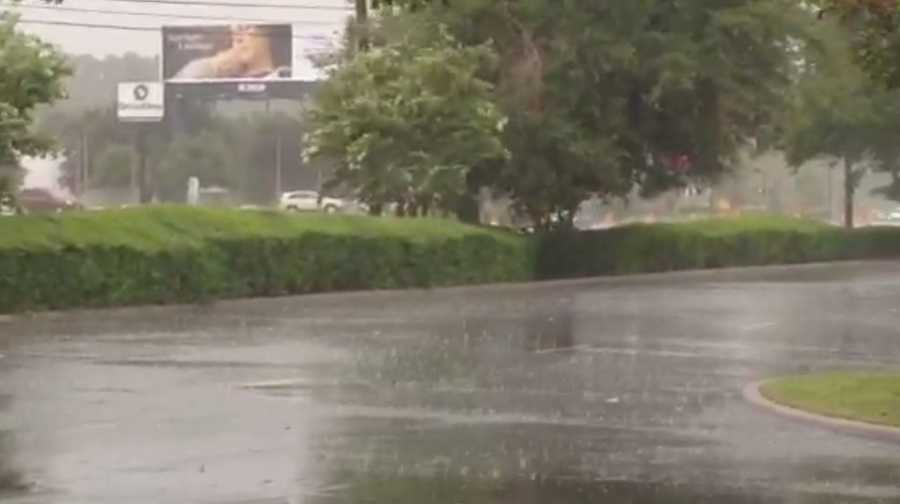 Rain reported off Colonial Dr. near Dean Rd. in East Orange County.