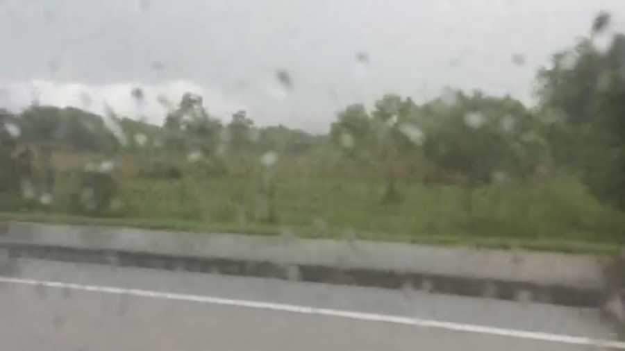 Storms moved through DeBarry while travelers drove down 1792