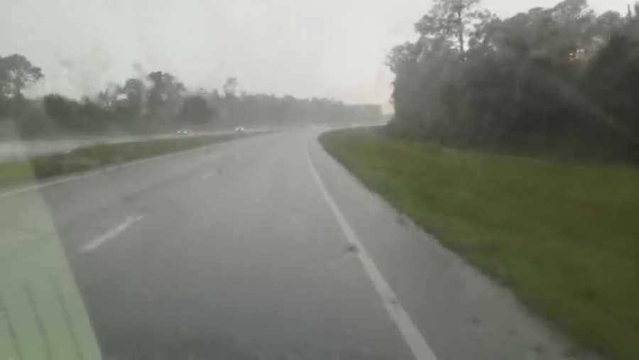 Storms traveled between New Smyrna Beach and DeLand.