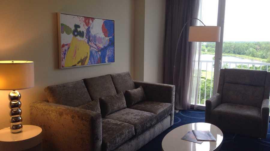 Rooms have designer furnishings