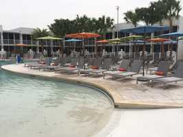 Poolside cafe, private cabanas and outdoor fire pits will be available.