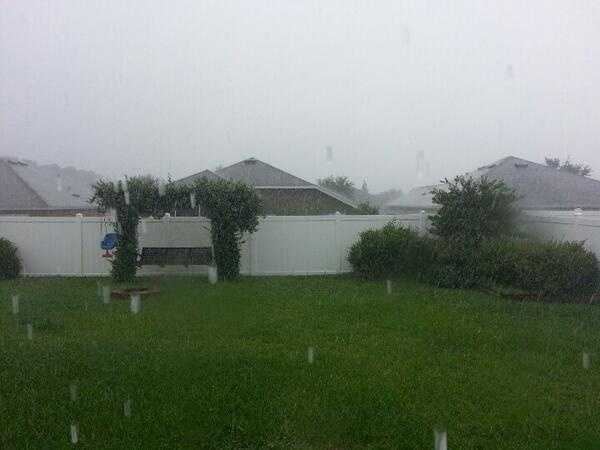 Heavy rain in Central Florida.