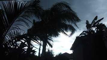 Darkening skies in Casselberry.