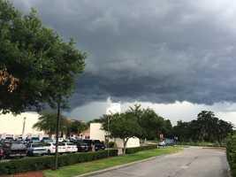 Dark skies rolling in to Orlando.