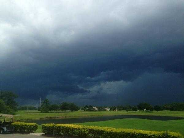Dark skies covering Central Florida.