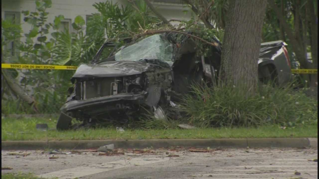 A driver fleeing from police was killed after crashing a stolen truck into a tree in Seminole County on Thursday evening.