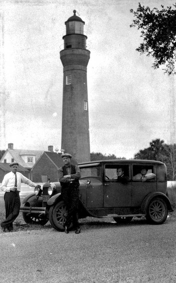 1929: St. Johns River, third lighthouse. Near Jacksonville.