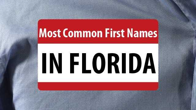 Do you have one of the most common first names in Florida? See the top 20 from data provided by WhitePages.com.Also see: Most common last names
