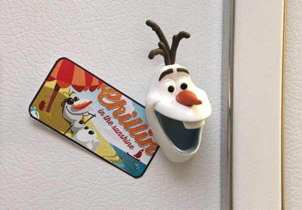 Put Olaf on your fridge or your car antenna.