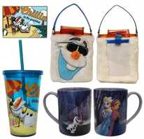 Sip cool or hot drinks with Olaf merchandise.